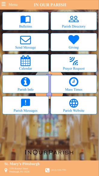 InOurParish Catholic Parish App